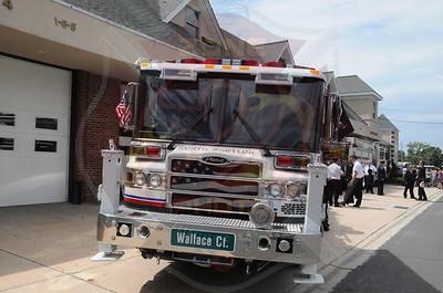 North Babylon Fire Co. Wetdown for Ladder 1-8-6  8/10/13