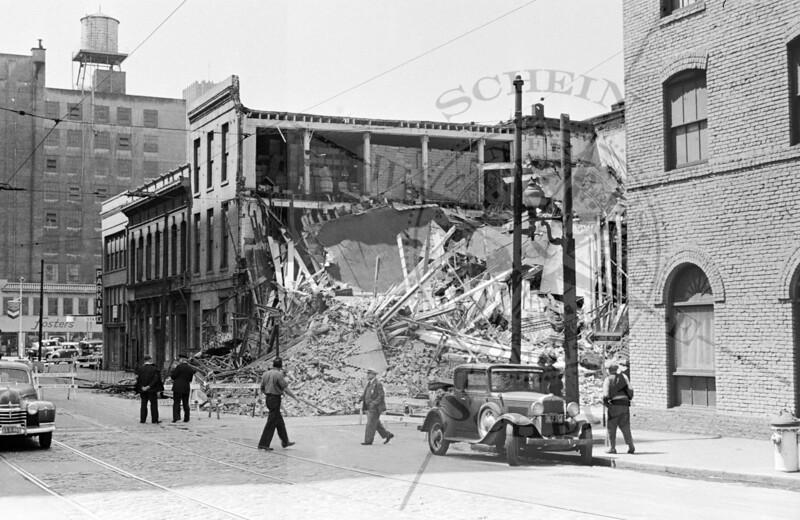 Jackson & Sansome, Exploded Boiler levels brick building