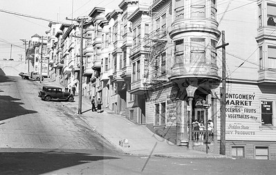 1100 Montgomery , View North towards Green St -1936