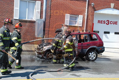 North Bellmore F.D. Car Fire in front of Co.1 3/29/08