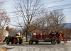 HOLLY PELCZYNSKI - BENNINGTON BANNER Tractors transport event goers around town during the 2018 North Bennington Winterfest held on Saturday in North Bennington.