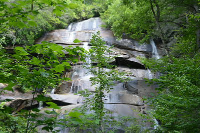 Water falls and Blue Ridge Trail near Brevard, NC