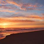 Beautiful sunrise at the beach.