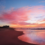 Sunrise over Atlantic Ocean.