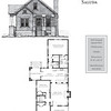 The Saluda Plan by Allison Ramsey Architects. This plan is 1442 Heated Square Feet, 3 Bedrooms and 2 Bathrooms. North Carolina Collection, Page 29. NC0029.