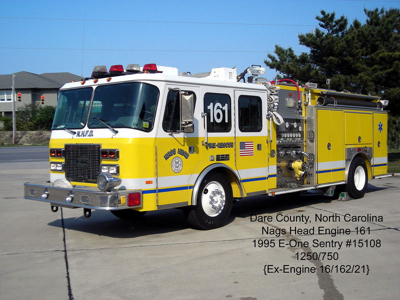 Nags Head Fire Department<br /> Dare County, NC<br /> 1995 E-One Sentry 1250/750<br /> Jerry Puryear Photo