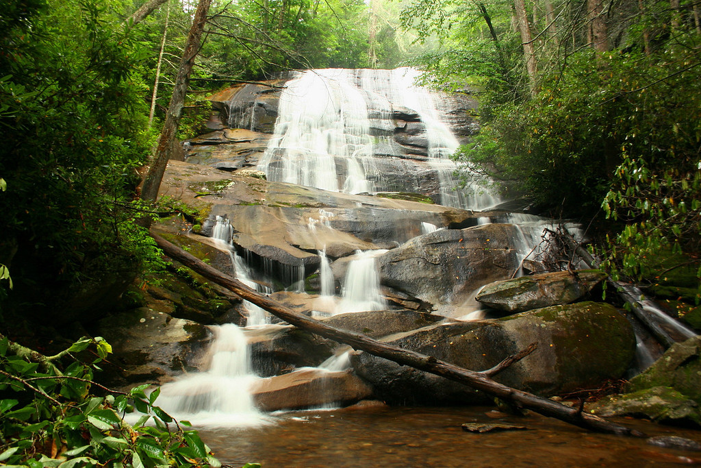 Cove Creek Falls, Transylvania County    Pisgah National Forest