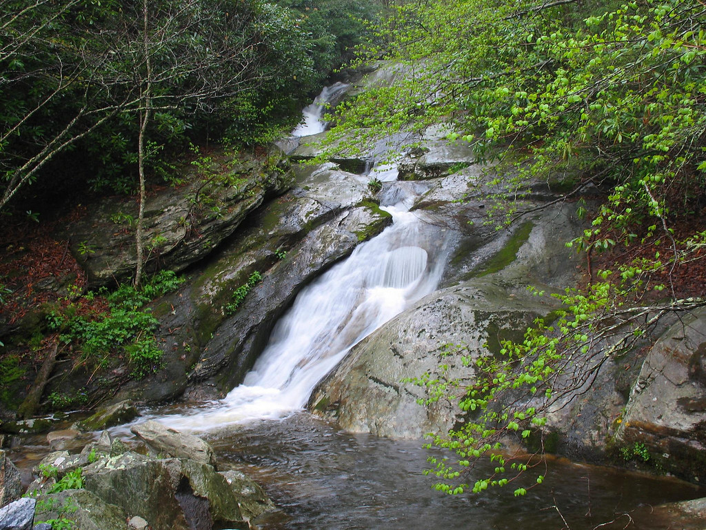 Buck Timber Creek Falls, Avery County    Pisgah National Forest