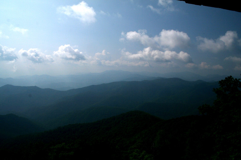 Wayah Bald overlook: 5,349 ft; Macon Co, NC