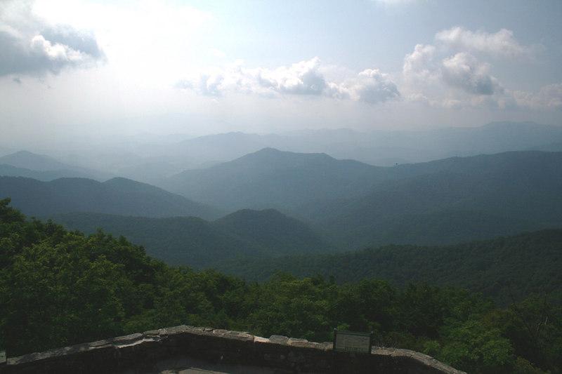 Wayah Bald overlook: 5,349 ft; Macon Co, NC