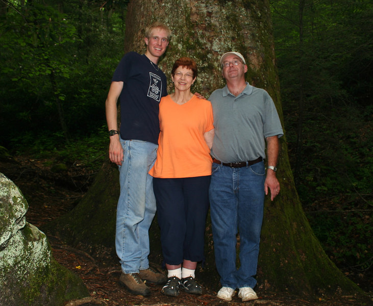 Standing in front of a 400+ year old Tulip Poplar Tree; Macon Co, NC