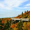 Beautiful fall  mountain landscape Linn Cove Viaduct. Blue Ridge Parkway. Close to Blowing Rock; Blue Ridge Parkway; North Carolina; USA.