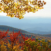Beautiful, colorful autumn mountain landscape View from Blue Ridge Parkway. Close to Blowing Rock, North Carolina, USA.