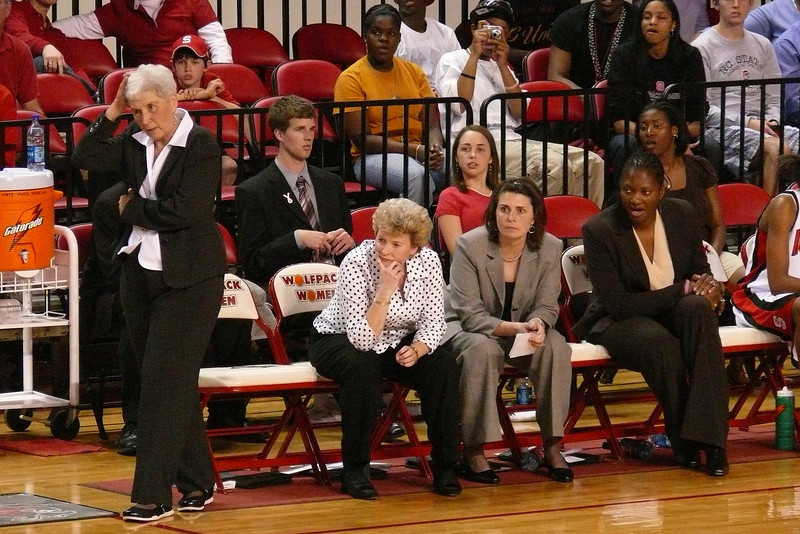 The coaches are really, really nice ladies.  You should go to a game and meet them!