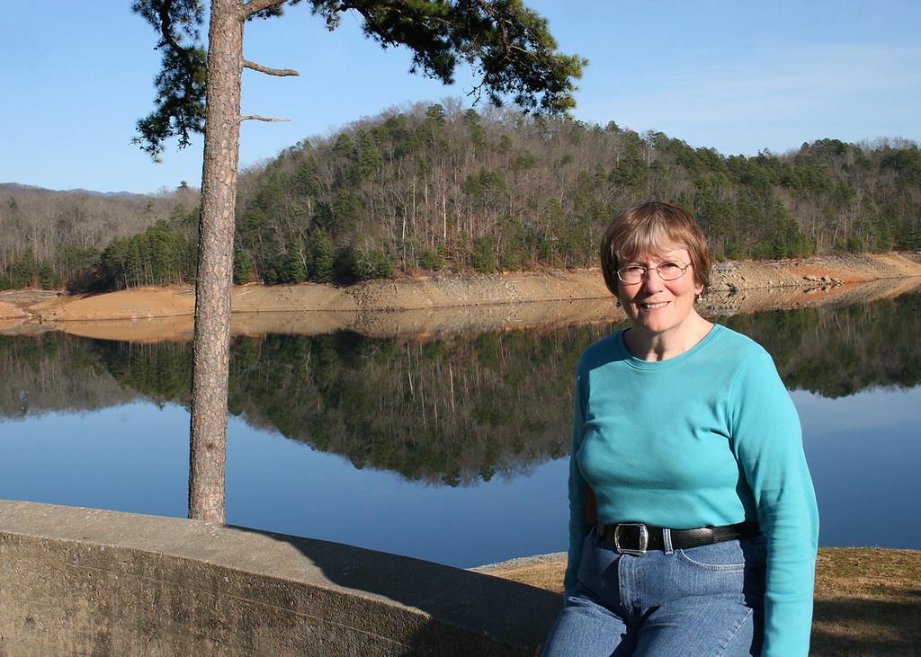 Susan at Hiawassee Dam outside of Murphy, NC