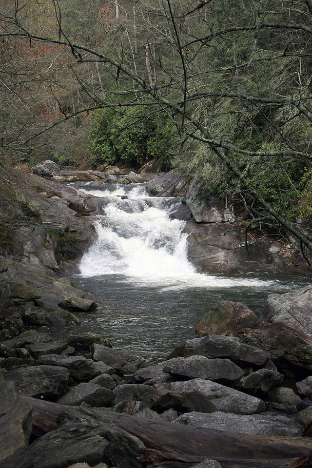 The Cullasaja River is a short river located entirely in Macon County, North Carolina. It is a tributary of the Little Tennessee River (and in turn the Tennessee River and Mississippi River), into which it flows near the county seat of Franklin, NC.
