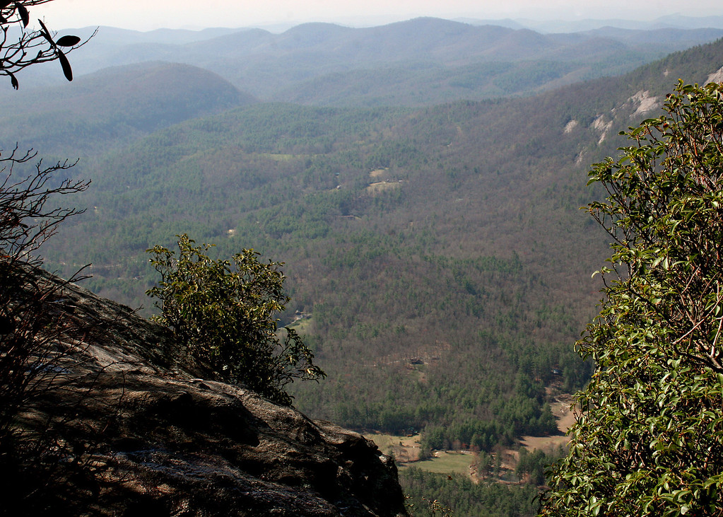 A viewpoint along the hike to the top