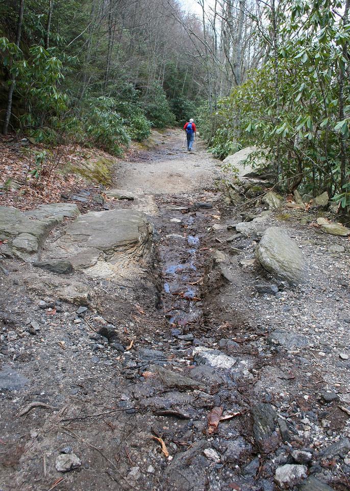 Hike back down