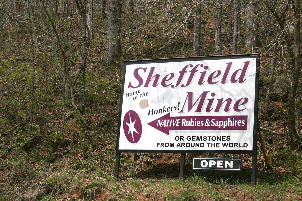 Sign to Sheffield Mine - 4/6/07