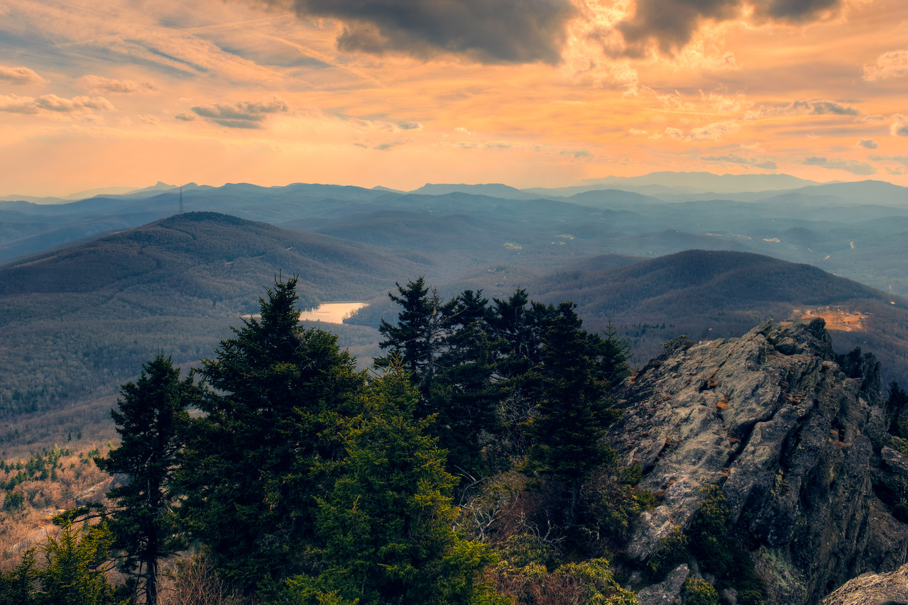 Sunset from Grandfather Mountain
