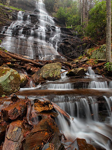 Waterfall On Northern Tributary Of Log Hollow Branch - 1