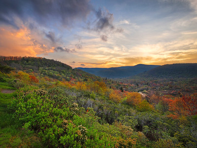 Graveyard Fields Sunset