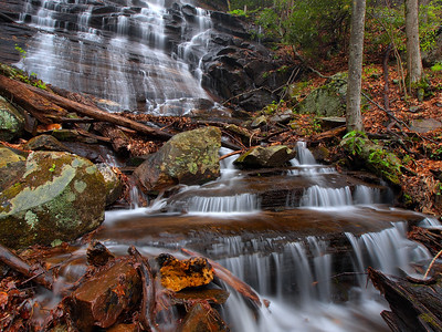 Waterfall On Northern Tributary Of Log Hollow Branch - 2