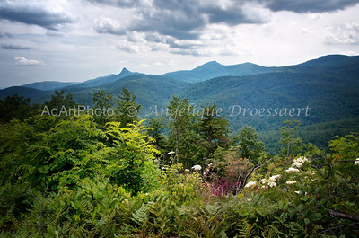 Grand Father Mountain, (the tall triangular peak) off the Blue Ridge Parkway, 2012
