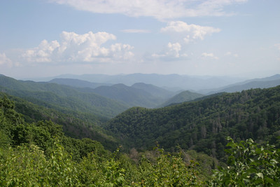 View from an overlook on US 441 just beneath Newfound Gap.