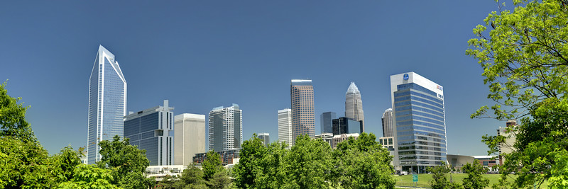 Skyline view of Uptown Charlotte, NC on Tuesday, May 14, 2013. Copyright 2013 Jason Barnette