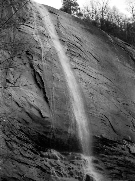 Chimney Rock Park in Black and White