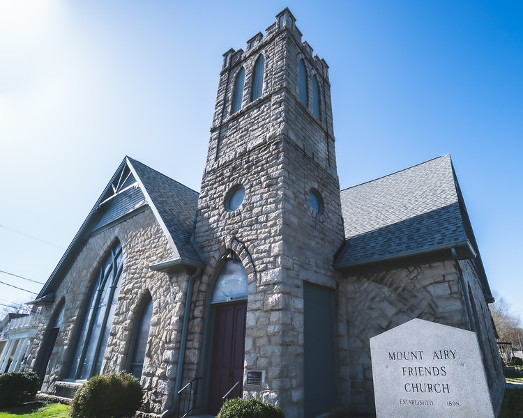 Mount Airy Friends Church in Mount Airy North Carolina