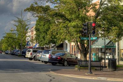 Small, locally-owned shops along South Broad Street in Edenton, NC on Thursday, August 20, 2015. Copyright 2015 Jason Barnette