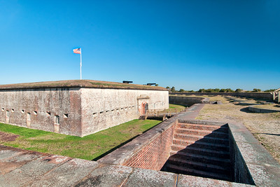 at Fort Macon State Park