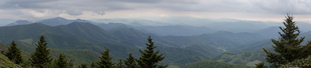 Stormclouds over the Yellow Mountains and Toe River Valley, from Grassy Ridge, Roan Mountain