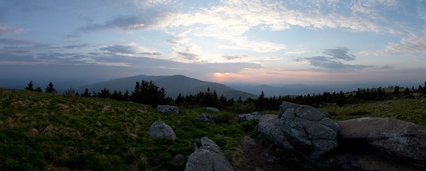 Sunset over the Roan Highlands, from Grassy Ridge
