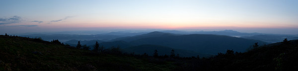 Sunrise over the Roan Highlands and Grandfather Mountain, from Grassy Ridge