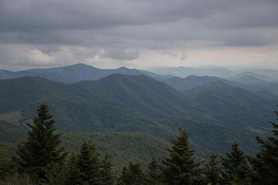 Stormclouds over Little Yellow Mountain, Hawks Mountain, and Yellow Mountain, from Grassy Ridge