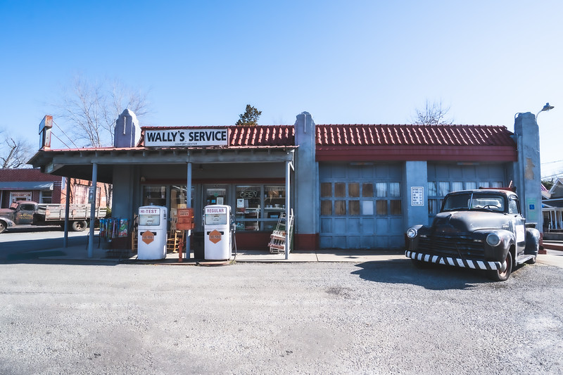 Wally's Service Station in Mount Airy North Carolina