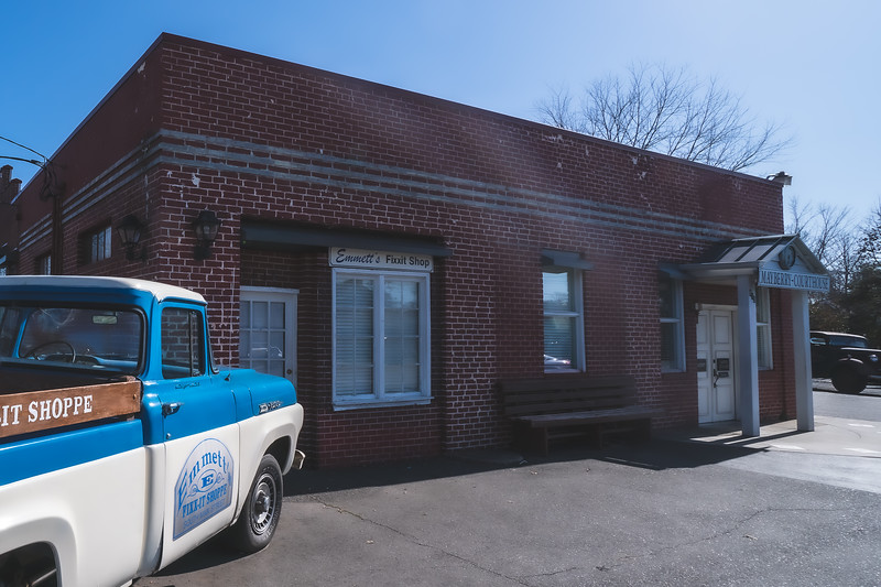 Emmett's Fixxit Shop & Mayberry Courthouse Replica in Mount Airy North Carolina