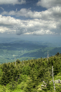 View from the observation deck atop Mt. Mitchell in Mount Mitchell State Park at Milepost 355.4 on the Blue Ridge Parkway in NC on Saturday, June 15, 2013. Copyright 2013 Jason Barnette