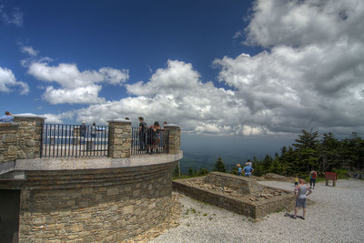 The view of the scenic overlook at the top of the mountain at Mt. Mitchell State Park at Milepost 255.4 on the Blue Ridge Parkway in North Carolina on Monday, June 15, 2015. Copyright 2015 Jason Barnette