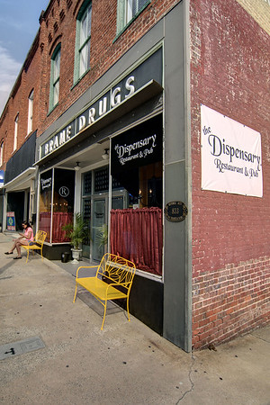 The Dispensary Restaurant & Pub on Main Street in North Wilkesboro, NC on Friday, June 13, 2014. Copyright 2014 Jason Barnette