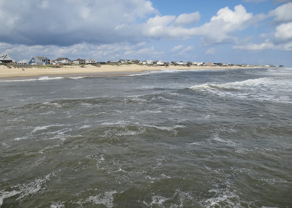 View of beach from Nags Head Pier