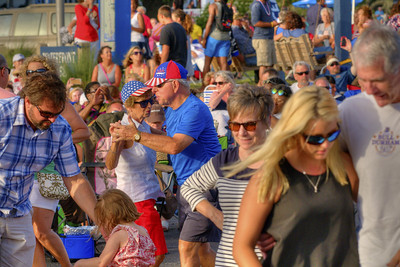 Couples dance to some live music during the North Carolina 4th of July Festival in Southport, NC on Saturday, July 4, 2015. Copyright 2015 Jason Barnette