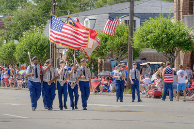 The parade along North Howe Street during the North Carolina 4th of July Festival in Southport, NC on Saturday, July 4, 2015. Copyright 2015 Jason Barnette
