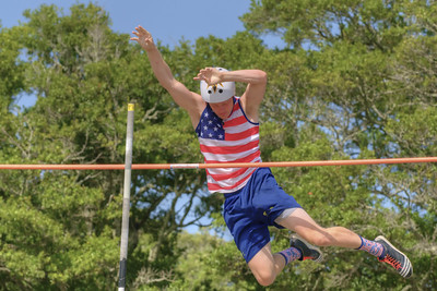 One of the more unexpected events is the Freedom Vault Competition by Son's Light Ministries Track Club during the North Carolina 4th of July Festival in Southport, NC on Saturday, July 4, 2015. Copyright 2015 Jason Barnette