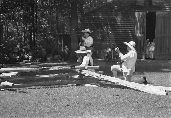 Historic Latta Plantation: Battle of McIntyre Farm 2012 in Black and White