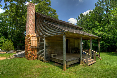 A homestead house at the Museum of the Waxhaws in Waxhaw, NC on Saturday, June 14, 2014. Copyright 2014 Jason Barnette