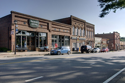A view of Main Street in Waxhaw, NC on Saturday, June 14, 2014. Copyright 2014 Jason Barnette